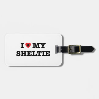 Etiqueta De Bagagem Mim coração meu Tag da bagagem de Sheltie