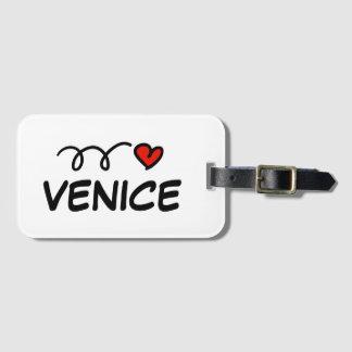Etiqueta De Bagagem Mim Tag da bagagem do viagem de Veneza do coração
