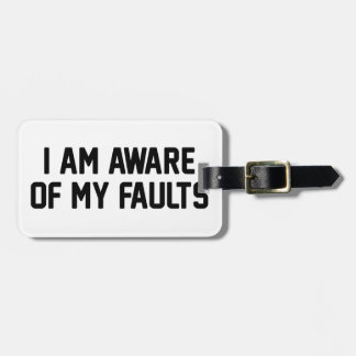 Etiqueta De Bagagem Minhas falhas