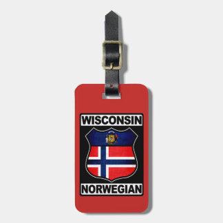 Etiqueta De Bagagem Modelo americano norueguês do Tag da bagagem de