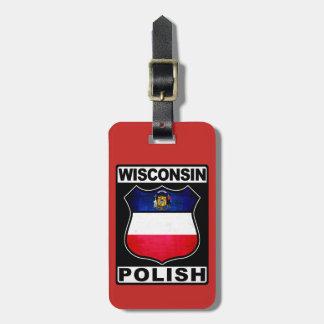 Etiqueta De Bagagem Modelo americano polonês do Tag da bagagem de
