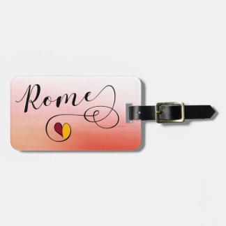 Etiqueta De Bagagem Modelo do Tag da bagagem do coração de Roma,