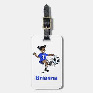 Etiqueta De Bagagem Modelo personalizado futebol da foto das meninas