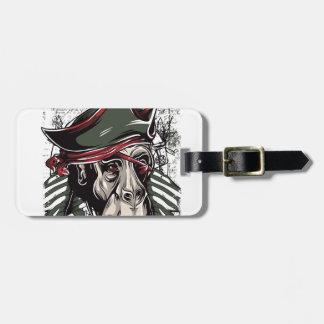 Etiqueta De Bagagem monkey o design bonito do pirata