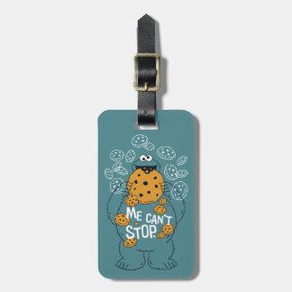 Etiqueta De Bagagem Monstro do biscoito do Sesame Street   - eu não