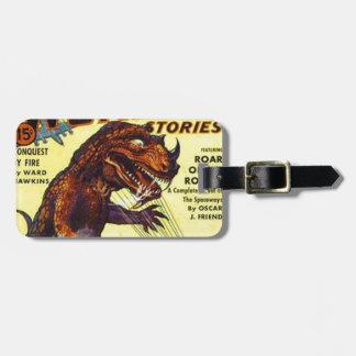Etiqueta De Bagagem monstro do lagarto gigante
