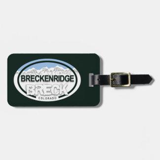 Etiqueta De Bagagem Montanha rochosa BRECK de Breckenridge Colorado