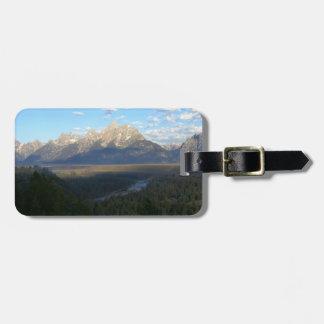 Etiqueta De Bagagem Montanhas de Jackson Hole (parque nacional grande