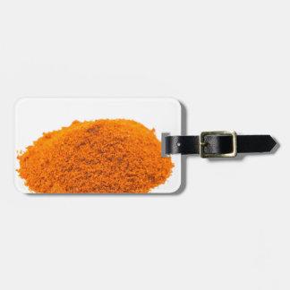 Etiqueta De Bagagem Montão do pó da pimenta de caiena da especiaria no