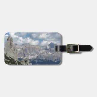 Etiqueta De Bagagem Mountain View panorâmico das dolomites italianas