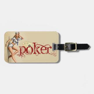 """Etiqueta De Bagagem Mulher """"sexy"""" do póquer"""