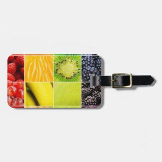 Etiqueta De Bagagem Multi colagem colorida da fruta