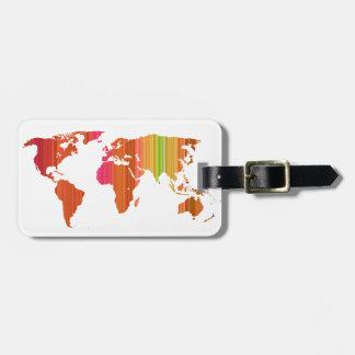Etiqueta De Bagagem Mundo de Stripey