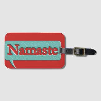Etiqueta De Bagagem Namaste