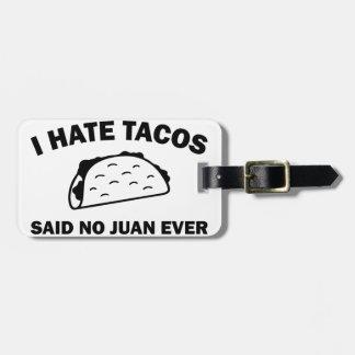 Etiqueta De Bagagem Não disse nenhum Juan nunca