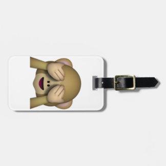 Etiqueta De Bagagem Não veja nenhum macaco mau - Emoji