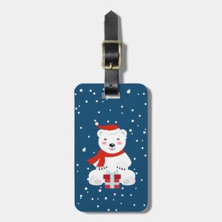 Etiqueta De Bagagem Natal Snowbear