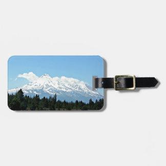 Etiqueta De Bagagem Natureza da paisagem da montanha de Shasta