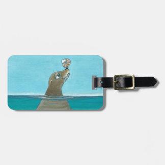 """Etiqueta De Bagagem """"Nautilus"""" o leão de mar"""