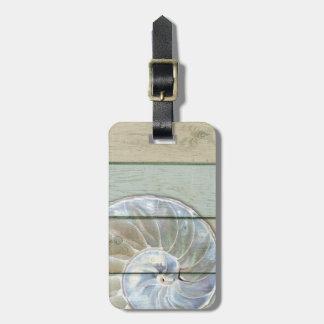 Etiqueta De Bagagem Nautilus Shell