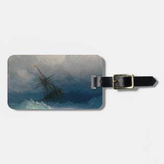 Etiqueta De Bagagem Navio em mares tormentosos, Ivan Aivazovsky -