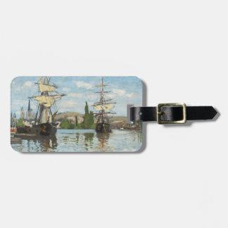 Etiqueta De Bagagem Navios de Claude Monet   que montam no Seine em