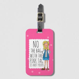 Etiqueta De Bagagem Nenhum o saco com o Tag cor-de-rosa não é seu
