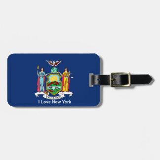 Etiqueta De Bagagem New York & bandeira dos EUA para a
