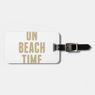 Etiqueta De Bagagem No tempo da praia