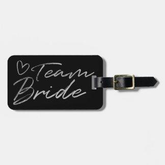 Etiqueta De Bagagem Noiva da equipe - o falso de prata foil o Tag da