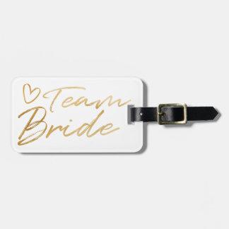 Etiqueta De Bagagem Noiva da equipe - o falso do ouro foil o Tag da