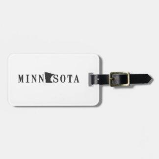 Etiqueta De Bagagem Nome de Minnesota com letra dada forma estado