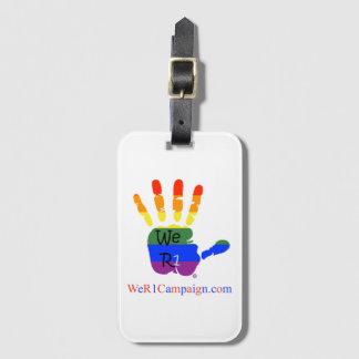 Etiqueta De Bagagem Nós Tag da bagagem de mão do arco-íris R1