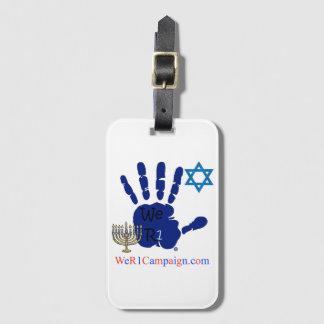 Etiqueta De Bagagem Nós Tag judaico da bagagem de mão R1