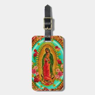 Etiqueta De Bagagem Nossa Virgem Maria mexicana do santo da senhora