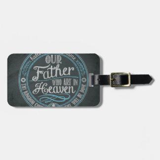 """Etiqueta De Bagagem """"Nosso pai que arte deus cristão do presente no"""