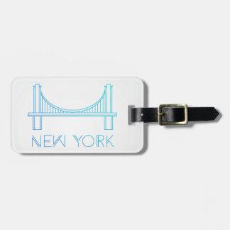 Etiqueta De Bagagem Nova Iorque da ponte de Brooklyn |