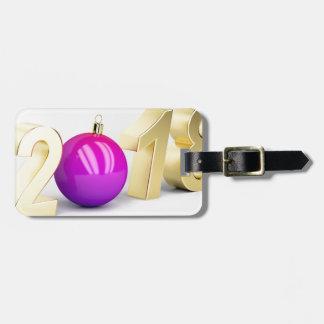 Etiqueta De Bagagem Número 2018 com bola do Natal