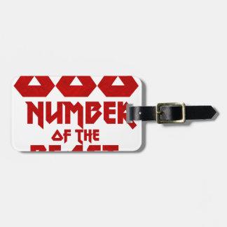 Etiqueta De Bagagem Número do animal