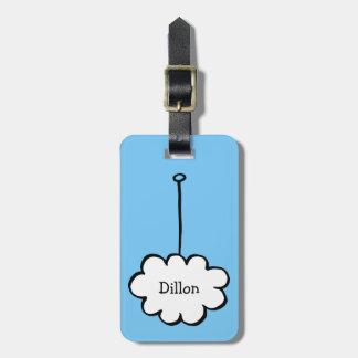 Etiqueta De Bagagem Nuvem personalizada em uma corda