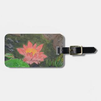 Etiqueta De Bagagem O acrílico em canvas, pica waterlily e esverdeia