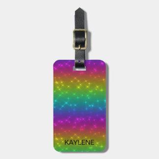 Etiqueta De Bagagem O arco-íris brilhante personalizado Sparkles Tag
