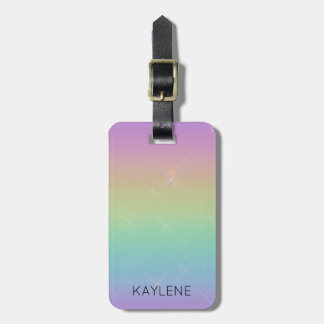 Etiqueta De Bagagem O arco-íris personalizado Sparkles Tag da bagagem