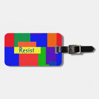 Etiqueta De Bagagem O arco-íris resiste o Tag da bagagem da edredão de