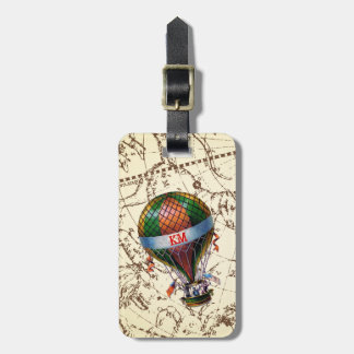 Etiqueta De Bagagem O balão de ar quente flutua no céu do zodíaco
