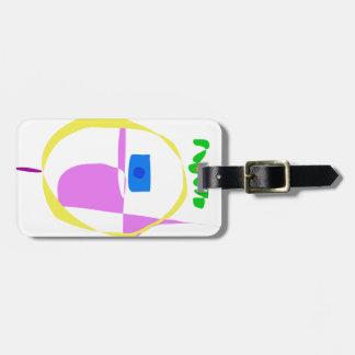 Etiqueta De Bagagem O círculo amarelo