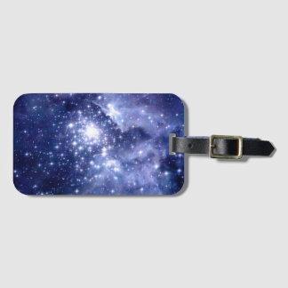 Etiqueta De Bagagem O cobalto sonha a nebulosa do universo do espaço