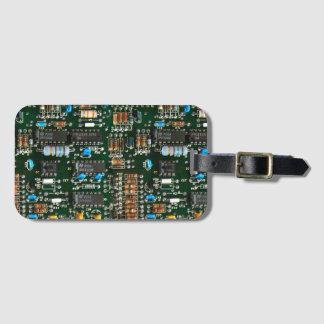 Etiqueta De Bagagem O conselho de circuito impresso dos eletrônicos do