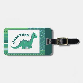 Etiqueta De Bagagem O dinossauro caçoa o Tag da bagagem
