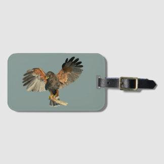 Etiqueta De Bagagem O Flapping do falcão voa a pintura da aguarela